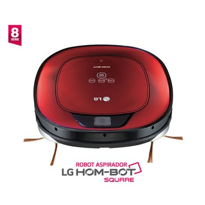 Aspirador Robot Lg Hombot Vr64702lvmb Square Rojo