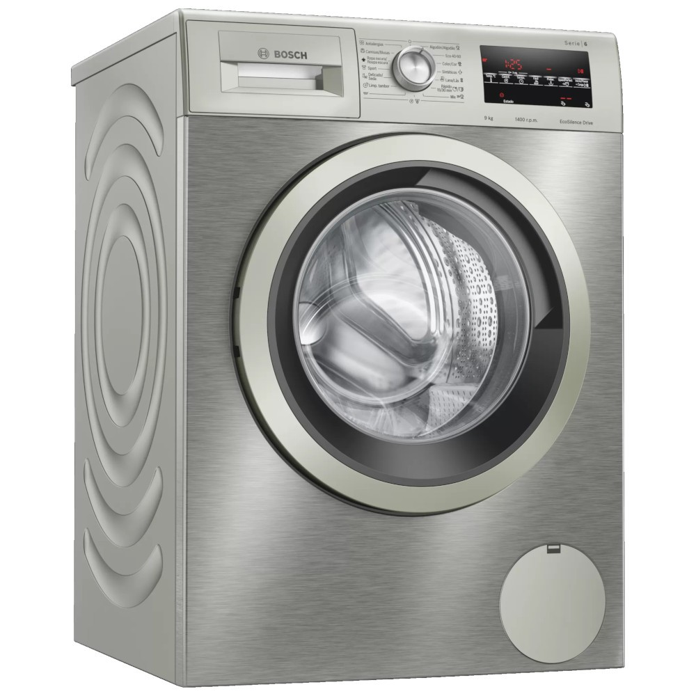 Lavadora Bosch Wau28t6xes 9kg 1400rpm Inox A+++