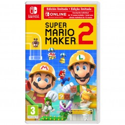 Juego Nintendo Switch Super Mario Maker 2 + 12 Meses Nintendo Switch Online