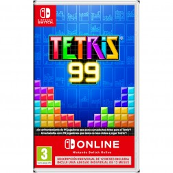 Juego Nintendo Switch Tetris 99 + 12 Meses Nintendo Switch Online