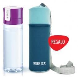 Botella Agua Brita Fill&Go 0,6l Lila+funda Neopren