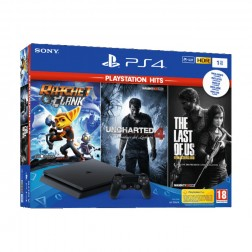 Consola Sony Ps4 1tb Negra+ R&C + Uc4+ The Last Of Us