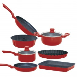 Bateria Cocina Royalty 9pcs Cookware Color Verde
