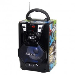 Mini Cadena Portatil Sakkyo Apm174d Bateria Recaegable 10w Rms Karaoke Blue