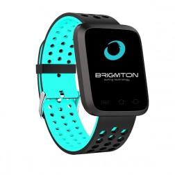 Pulsera Fitness Brigmton Bsport-18-A Bluetooth Multideporte Azul