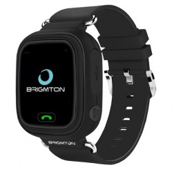 Smartwatch Brigmton Bwatch-Kids-N Localizador Gps Negro