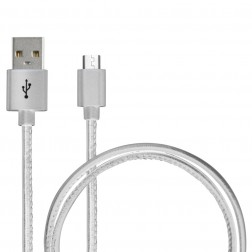 Cable Datos/Carga Ksix Executive Micro Usb-Usb 2.4a Blanco