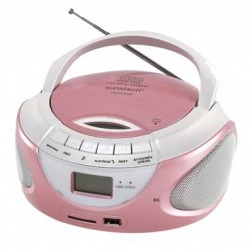 Radio Cd Sunsteck Crusm395btpk Bluethooth Usb Rosa