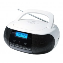 Radio Cd Sunstech Crusm400wt Mp3 Usb Blanca