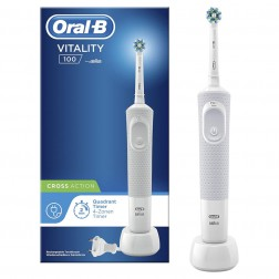 Cepillo Dental Braun D100 Vitality Cross Action Blanco
