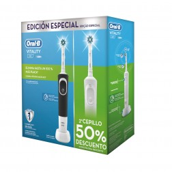 Cepillo Dental Braun Oral-B Duo D100 Vitality Blanco + Negro