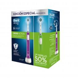 Cepillo Dental Braun Oral-B Duo Pro600 Verde+morado