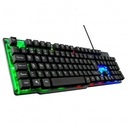 Teclado Gaming The G-Lab Keyz-Neon/Sp Iluminado Negro