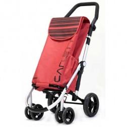 Carro Compra Carlett Lett460-2 Rojo 4 Ruedas