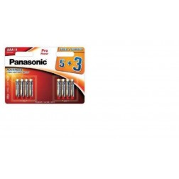 Pila Alcalina Panasonic Aaa 1.5v Lr03ppg/8bw (5+3