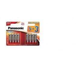Pila Alcalina Panasonic Aa 1.5v Lr6ppg/8bw ( 5+3-