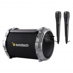 Altavoz Portatil Sunstech Massive-S2 Bluetooth Negro + 2 Microfonos
