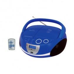 Radio Cd Nevir Nvr480ub Bluetooth Mp3 Usb Azul