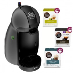 Cafetera+3paq Cafe Dolce Gusto Krups Kp100b Piccolo Gris