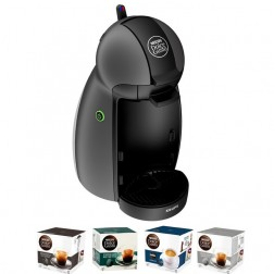 Cafetera+4paq Cafe Dolce Gusto Krups Kp100b Piccolo Gris