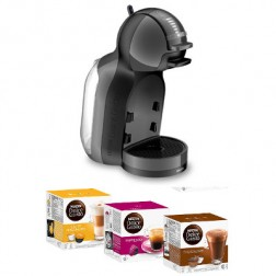 Cafetera+3 Paq Cafe Dolce Gusto Krups Mini Me Negr