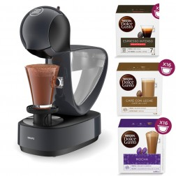 Cafetera Dolce Gusto+3 Paq Cafe Krups Infinissima Gris Antracita Kp173b10