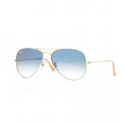 Gafas Sol Ray-Ban Aviator 001/3f 55 Azul Claro Degrad