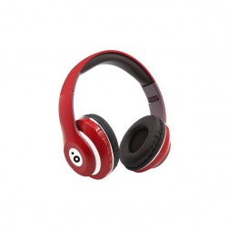 Auricular Diadema Sunstech Rebel Bluetooth Rojo