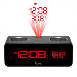 Radio Reloj Oregon Rra320pnx Proyector Gris
