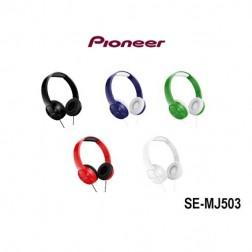 Auricular Diadema Pioneer Se-Mj503-R Rojo