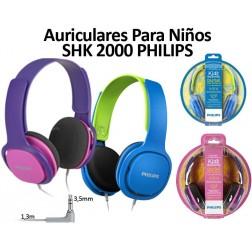 Auricular Diadema Niños Philips Shk2000bl Azul