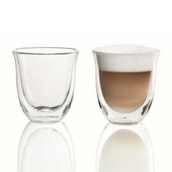 Set 2 Tazas Cafe Delonghi Cappuccino Cristal 190ml
