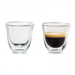 Set 2 Tazas Cafe Delonghi Espresso Cristal 60ml