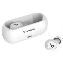 Auriculares Sunstech Wave Pods Lite Microfono Estuche Blanco